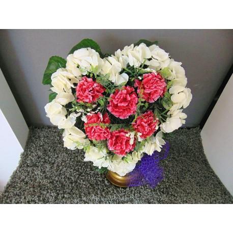 Coeur de fleurs fleurs artificielles - Coeur fleurs artificielles ...